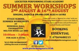 singing, PSA Summer Workshop Days