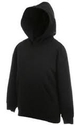 thumb-Children's black hoodie